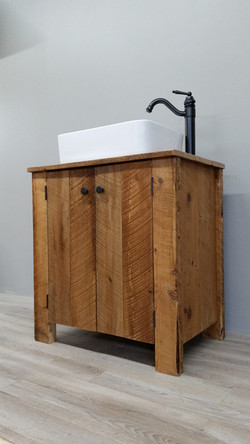 Reclaimed Barn Wood Vanity