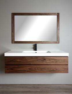 Modern Walnut Vanity