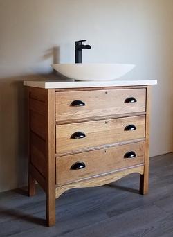 Antique Vanity with Quartz Top
