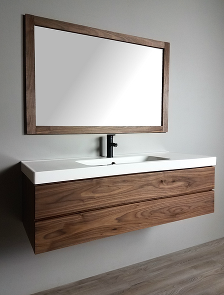 modern walnut bathroom vanity