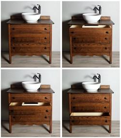 Antique Dresser Vessel Sink Vanity