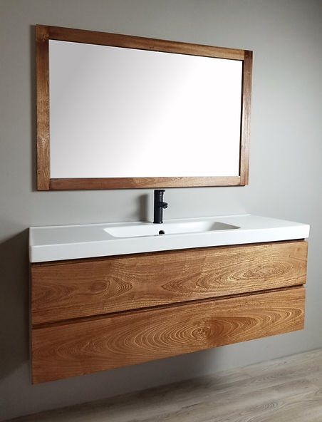 sapele vanity