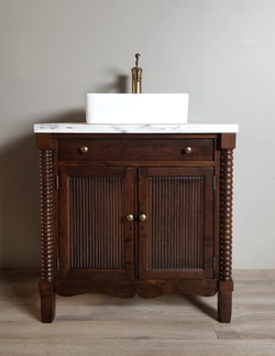 Antique Vanity with Danby Marble