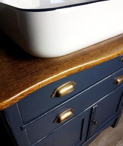 Antique Washstand Vanity Conversion