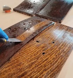 Stripping antique finish