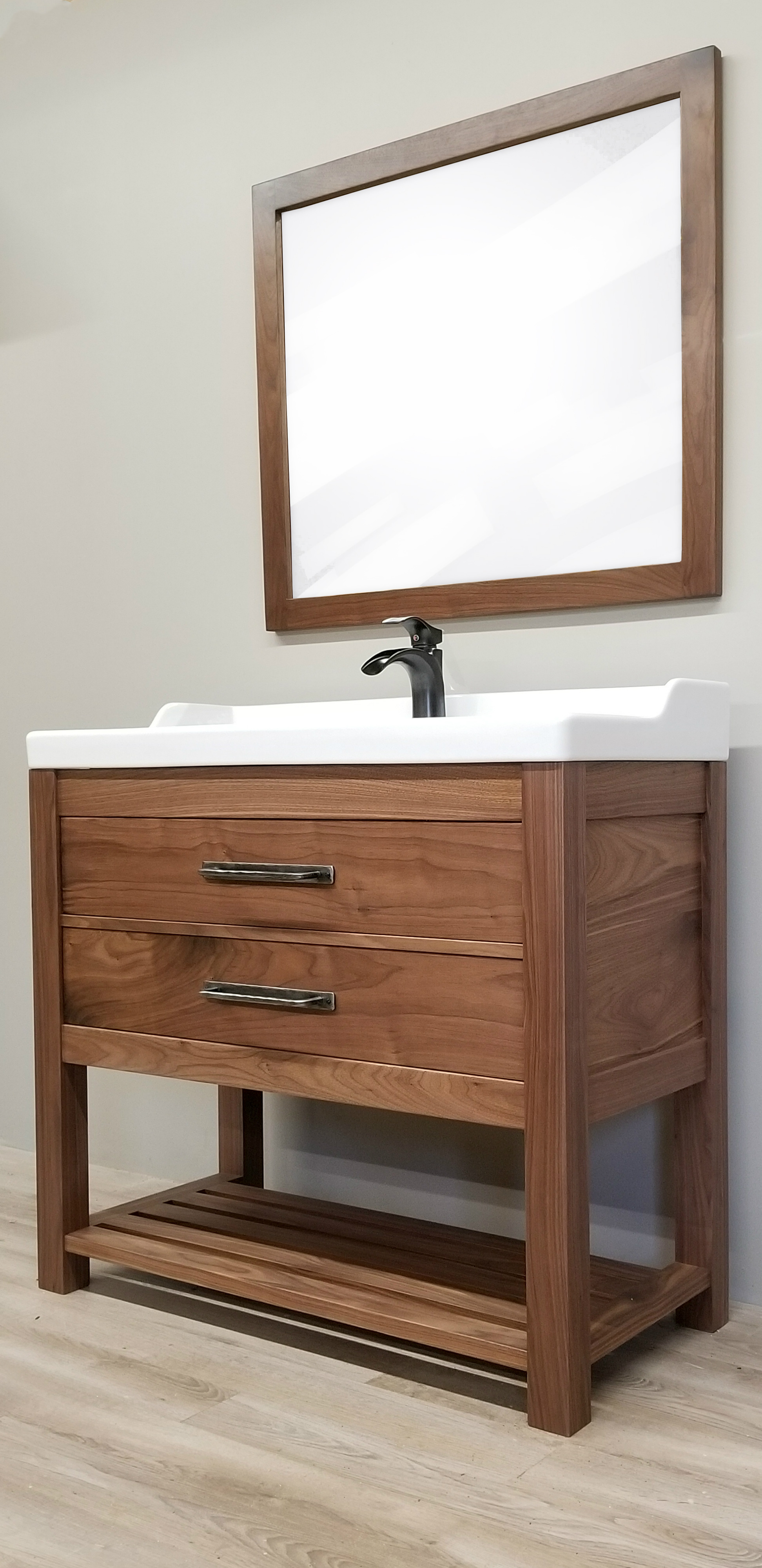 Solid Walnut Bathroom Vanity