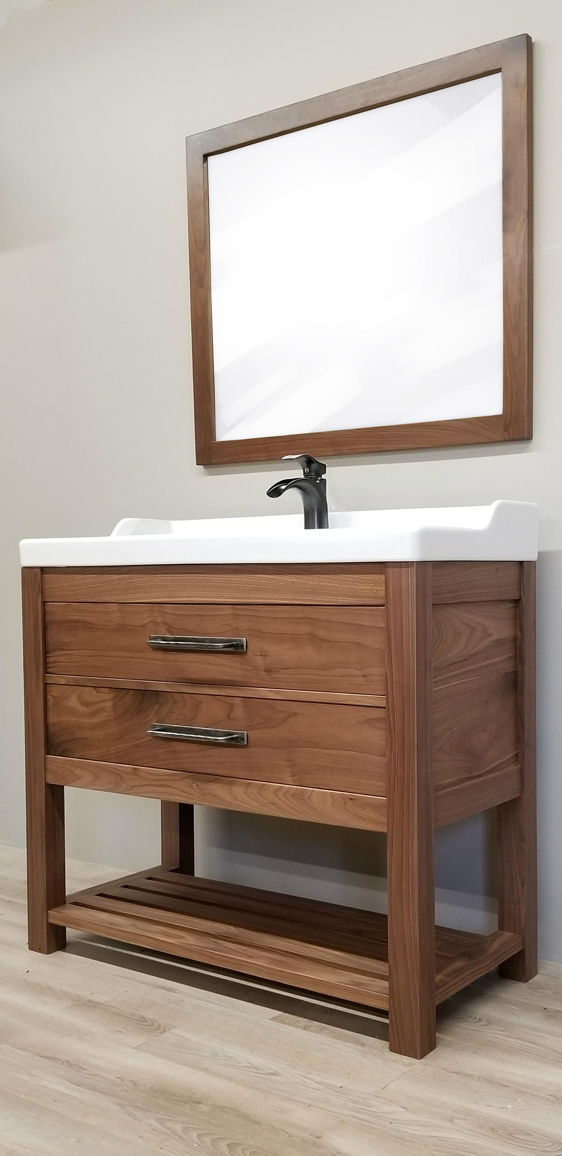 Solid Walnut Bathroom Vanity