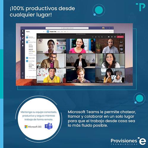 100% Productividad y Colaboración Paquete Básico (Suscripción Anual)