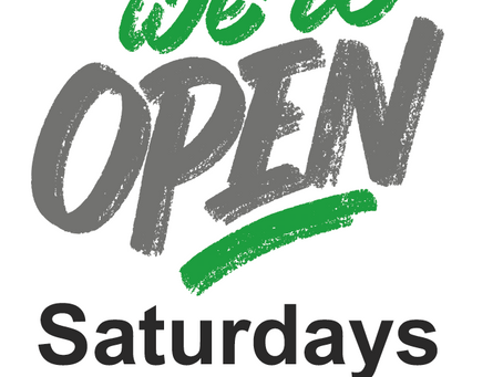 Our depots are open on Saturday mornings