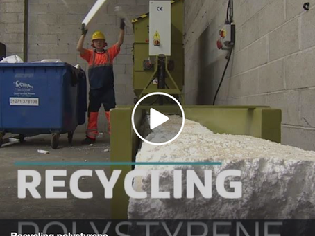 Polystyrene recycled in North Devon for the first time
