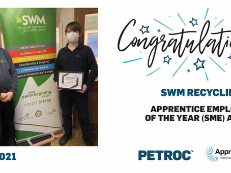 SWM awarded Petroc's Apprentice Employer of The Year (SME)