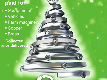 Turn Scrap Metal into money this Christmas
