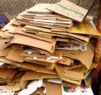 Are you going to have to pay to dispose of used cardboard?