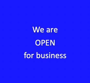 We remain open for business ....