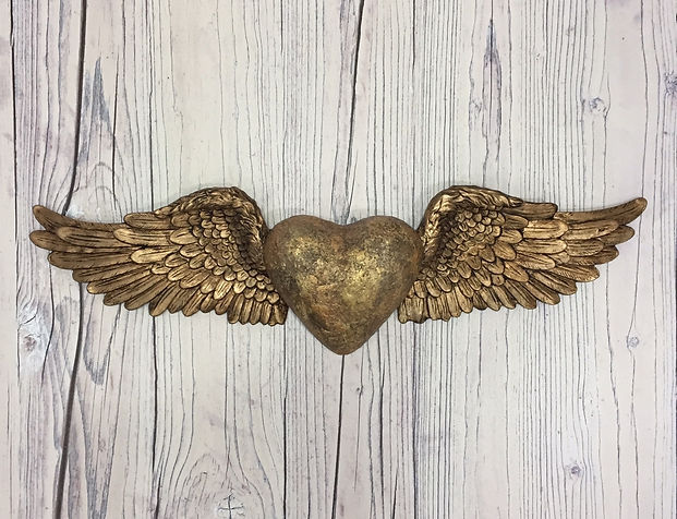 Wall Ornament Heart & Wings