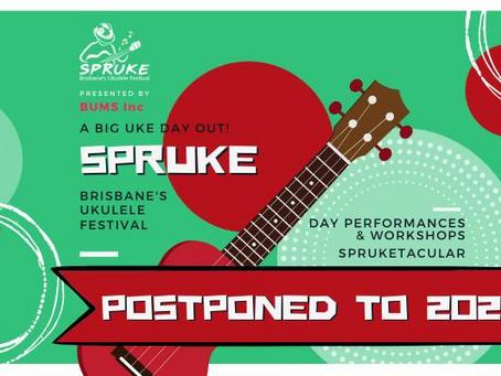 Spruke 2021 postponed
