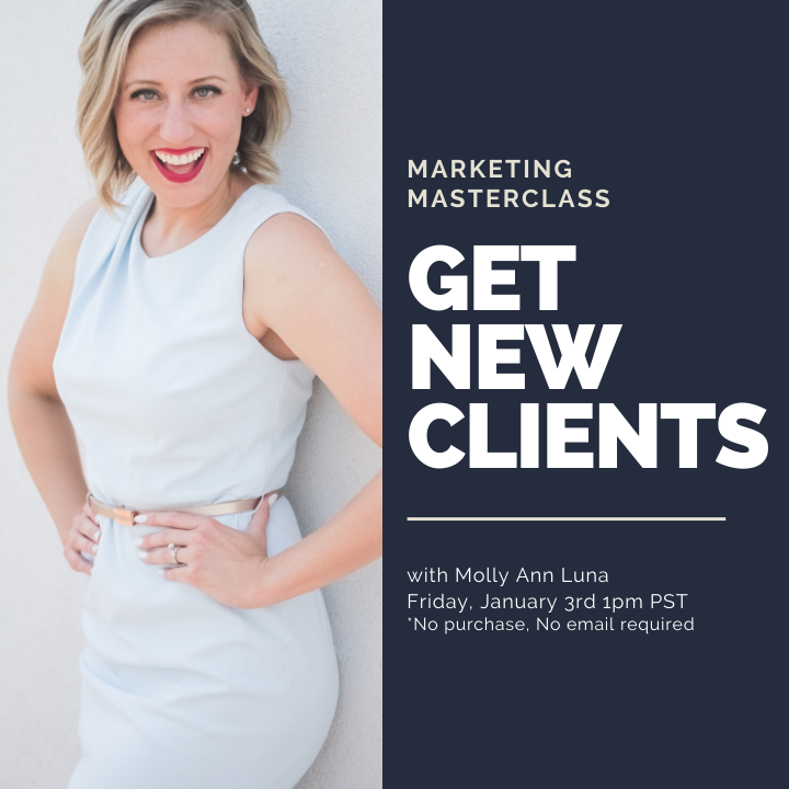 GET NEW CLIENTS - Free Marketing Masterclass