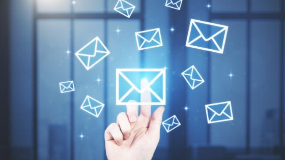 finger clicking emails