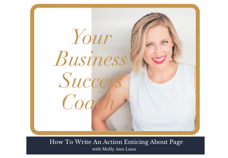 32 | How To Write An Action Enticing About Page: 8 essential elements
