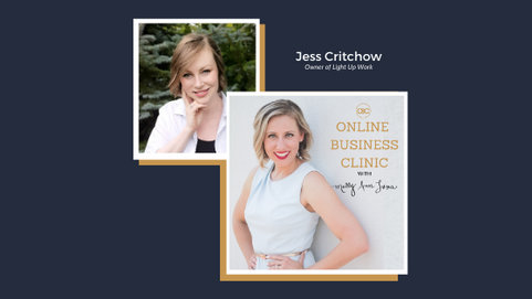 How To Build Confidence and Get Started (even if you think you're not ready) with Jess Critchow