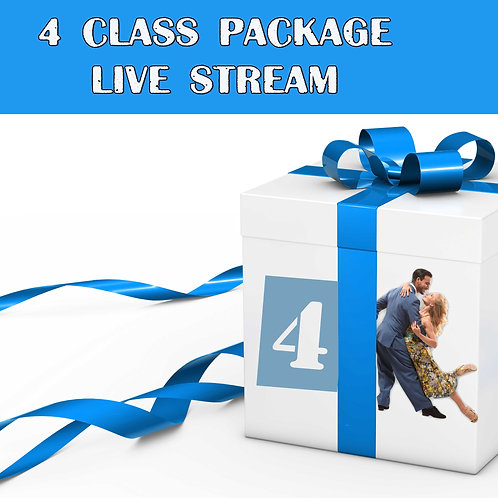 4 livestream classes/month package