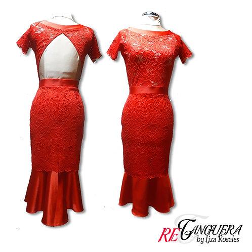 Red Salon  Dress