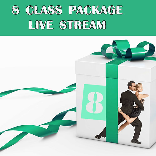 8 livestream clesses/month package