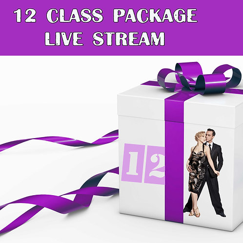12 livestream classes/month package