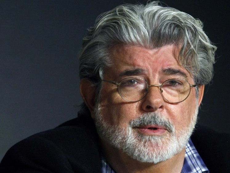 Producer George Lucas at the 2008 Cannes Film Festival. (Jean-Paul Pelissier/Reuters)