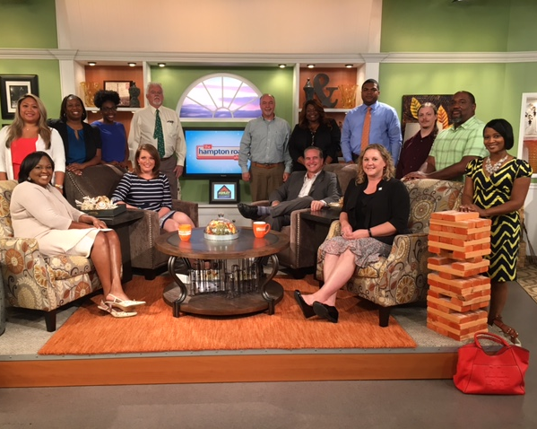 VBCDC partners pose with Katie Collet and Chris Reckling of the Hampton Roads Show