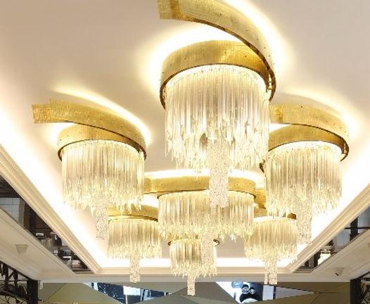 Lámpara en comercio de joyas Madrid Y Barcelona Rabat