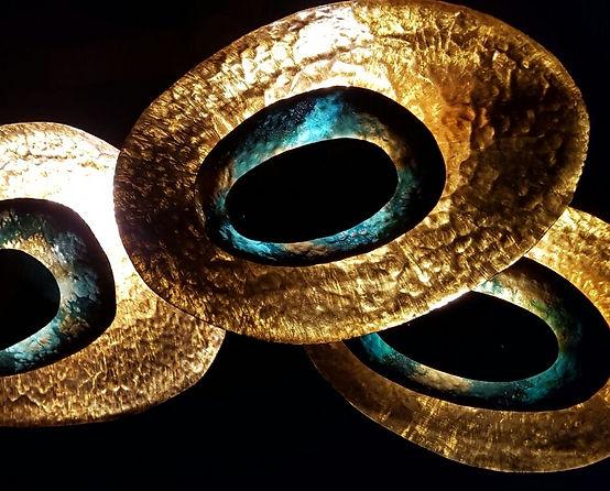 Lámpara de hotel diseñada por Víctor Paniagua y fabicada a mano artesanal para vivienda