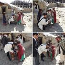 Sara Kazimi visiting Afghanistan Refugee Camp