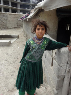 A girl from refugee camp