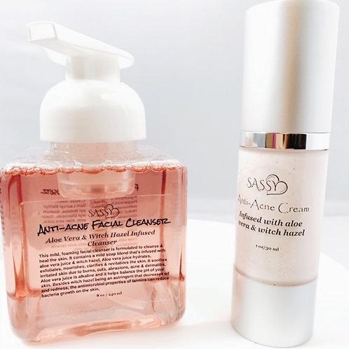 Anti-Acne  Cleanser & Cream Set