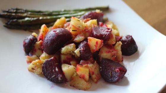 Roasted Beets + Sweet Potatoes