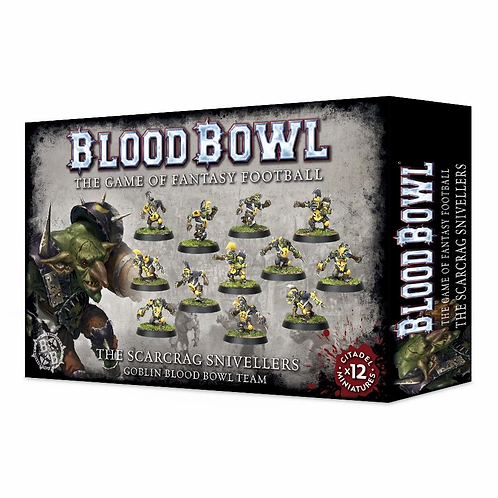 BLOOD BOWL: The Scarcrag Snivellers - Goblin Team