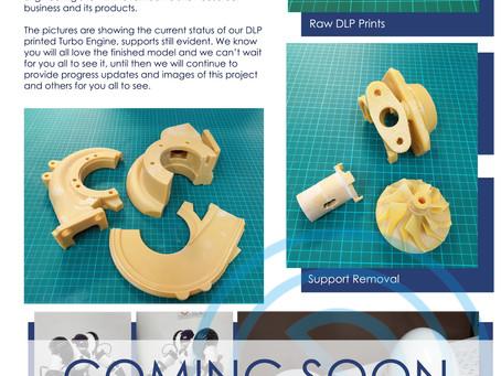 DLP printed Turbo