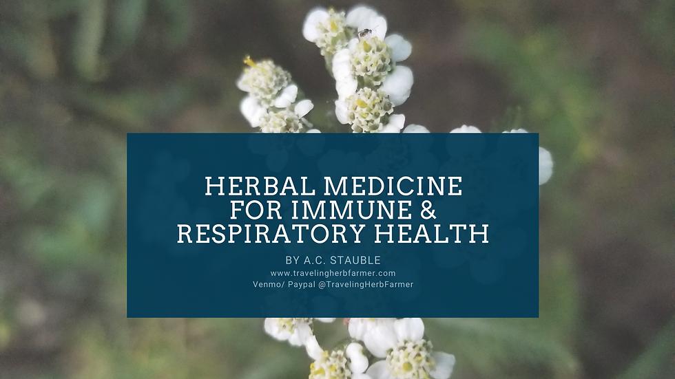 Herbal Medicine for Immune & Respiratory