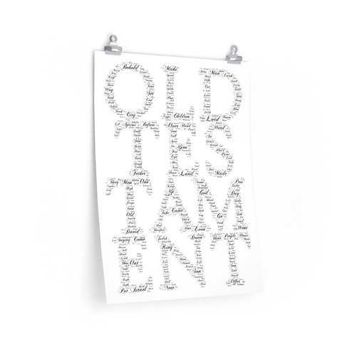 Old Testament Vertical Poster