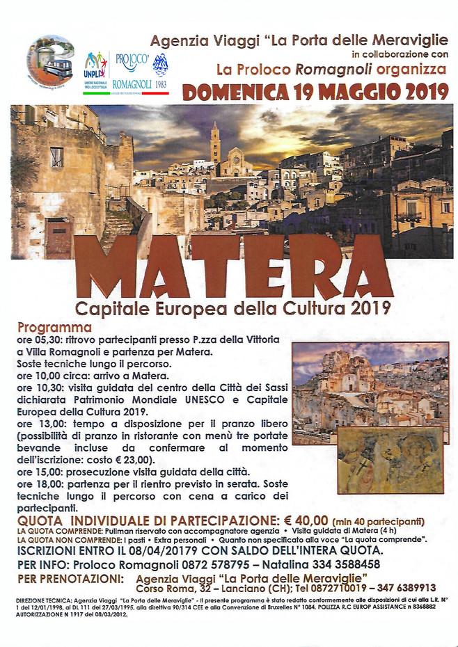 Gita sociale a Matera