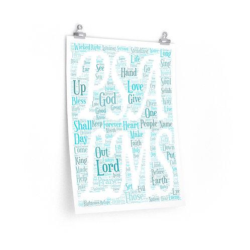 Psalms Vertical Poster
