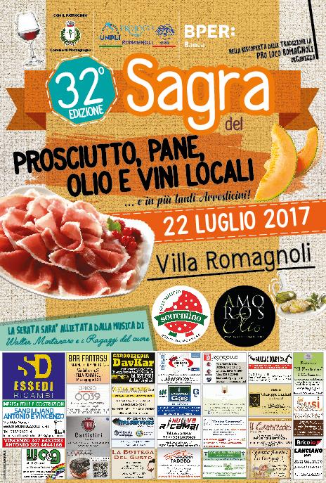 32^ Sagra del Prosciutto, Pane, Olio e Vini locali.