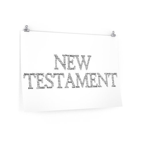New Testament Horizontal Poster