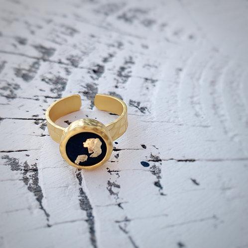 Ring Kairo - schwarz/gold