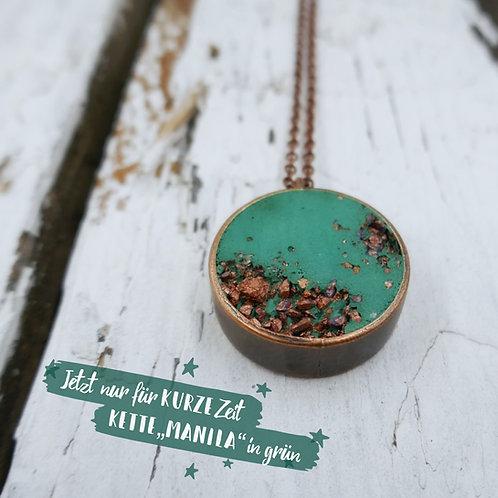 Halskette Manila - grün/kupfer - limited edition