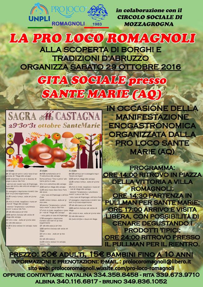 Gita Sociale presso Sante Marie (AQ)