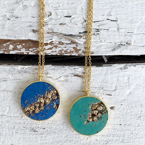 Halskette Lisboa - blau oder grün