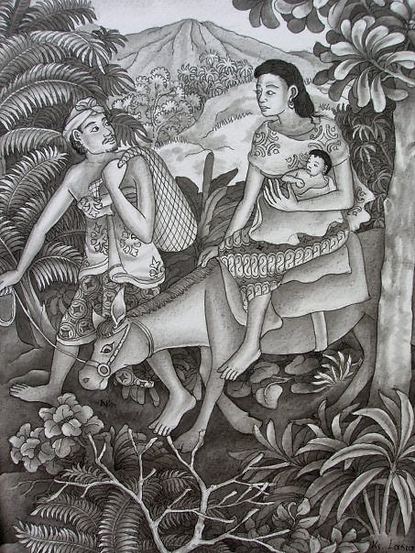 Flight to Egypt by Ketut Lasia.png