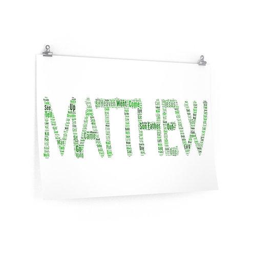 Matthew Horizontal Poster